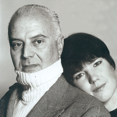 Manolo Blahnik and Marianne Britt