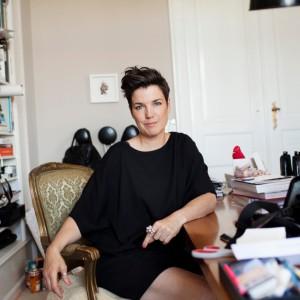 Marianne Britt in her studio